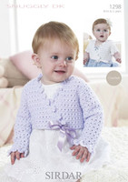 Baby / Child's Crochet Cropped Ballet Cardigans | Sirdar Snuggly DK 1298