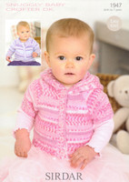 Baby / Childrens Cardigan DK Patterns | Sirdar Snuggly Baby Crofter DK 1947
