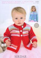 Baby / Girls Swing Cardigan DK Pattern | Sirdar Baby Crofter DK / Snuggly DK 1200