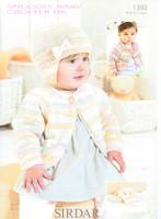 Baby / Childs Cardigan, Helmet & Mittens Pattern | Sirdar Snuggly Baby Crofter DK 1393