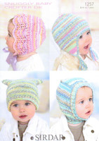 Baby / Child Hats, Bonnet & Balaclava Pattern | Sirdar Snuggly Baby Crofter DK 1257