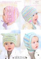 Baby / Child Hats, Bonnet & Balaclava Pattern | Sirdar Snuggly Baby Crofter DK 1257