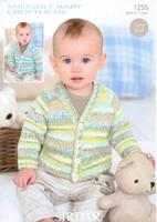Baby / Childrens Cardigan DK Pattern | Sirdar Snuggly Baby Crofter DK 1255