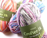 Sirdar Crofter DK Multi Coloured Knitting Yarn, 50g Balls | Various Colours - Main Image