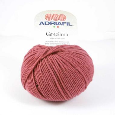 Adriafil Genziana 4 Ply 100% Finest Merino Wool - 50g balls - Warm Terracotta