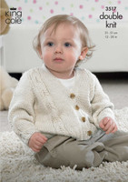 Baby Waistcoat, Cardigan and Slipover DK Pattern | King Cole Cotton Soft DK 2836