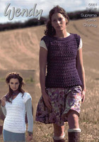 Ladies Slash & V Neck Sweater Chunky Patterns | Wendy Supreme Cotton Chunky 5661