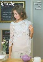 4ply Crochet Pattern for a Motif Shawl - Wendy Supreme Cotton 4ply 5885