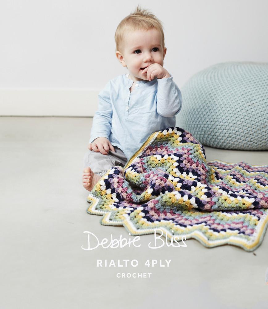 4 Ply Yarn Crochet Patterns : ... -zag Blanket Crochet Pattern Debbie Bliss Rialto 4 Ply - Main Image