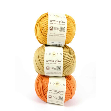 Rowan Cotton Glace 4 ply mercerised Egyptian  cotton - 50g balls