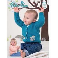 Baby & Childrens Cardigan DK Pattern | Peter Pan DK 1238