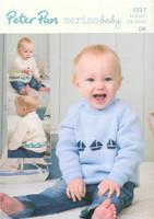 DK Pattern for Childrens' / Babys' Cardigan 1217
