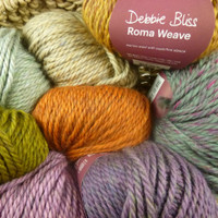 Debbie Bliss Roma Weave Super Chunky Yarn - Mixture of balls of yarn