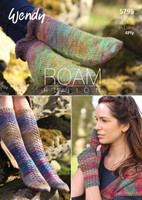 4 Ply Knitting Pattern for Socks and  Finger-less Mitts Using Wendy Roam - Pattern Number 5795