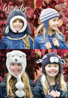Fun Hats and Hood Chunky Pattern | Wendy Eider / Merino Chunky 5969