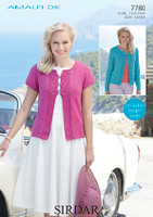 Dk pattern for a long or short sleeved cardigan - Sirdar Amalfi 7780