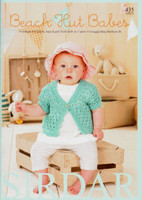 Sirdar Beach Hut Babies Pattern Book | Sirdar Book 435