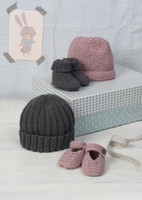 Bubble and Squeak - Pattern for hat, shoes and bootees for babies - Erika Knight