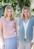 Short Sleeve Cardigan and Sleeveless Top Pattern | 5992 | Wendy Fleur Dk