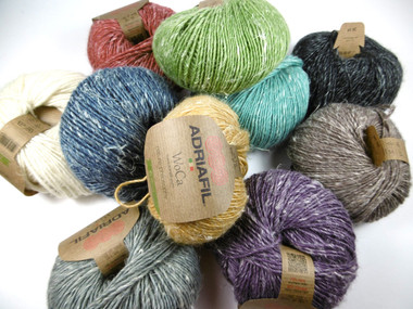 Adriafil WoCa yarn - 70% wool / 30% hemp