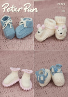 Pattern for Babies Cozy Toes in Peter Pan Merino Baby Dk | 1273