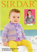 Pattern for Baby / Childs Cardigans | Sirdar Snuggly Rascal DK 4773