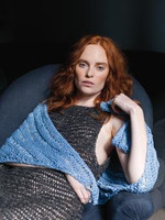 Rowan Stone Washed Shawl  shown in