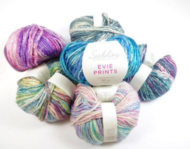 Sublime Evie Prints Cotton Rich Aran yarn - 50g balls  | Outback Yarns