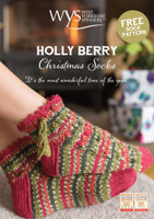 Holly Berry Christmas Socks - Free Downloadable Pattern