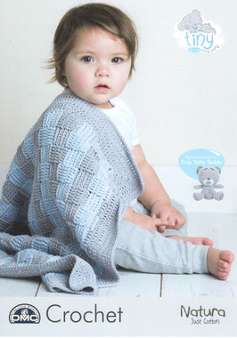 Tiny Tatty Teddy Crochet Baby Blanket Pattern | DMC Natura Just Cotton