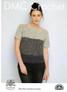 Step Hem Shades Sweater Crochet Pattern   DMC Natura Cotton Denim