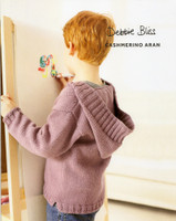 Childs Hooded Sweater Knitting pattern | Debbie Bliss Cashmerino Aran