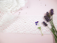 Wide Cotton Lace Trim - 95mm wide