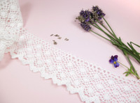 Wide Cotton Lace Trim - 65mm wide