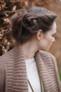 Rowan Cashmere Tweed Dk - Carron Cardigan Close up