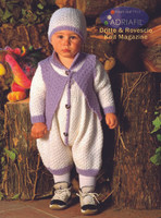 Baby Onesie, Cardigan and Hats Pattern (Leonardo Set) | Adriafil Avantgarde - Free Downloadable Knitting Pattern 46 - Main Image