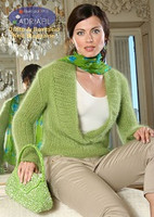 Dublino Pullover Knitting Pattern using Adriafil Carezza Angora Knitting Yarn | Free Downloadable Knitting Pattern DUB03