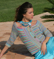 Jasmine Cardigan Knitting Pattern using Adriafil Duo Comfort Plus Knitting Yarn   Free Downloadable Pattern JAC - Main image