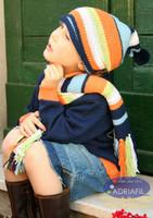 Oklahoma Outfit (Hat & Scarf) Knitting Pattern using Adriafil Genziana Yarn | Free Downloadable Pattern - Main image