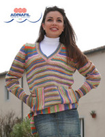 Giunone Pullover / Jumper Knitting Pattern using Adriafil Knitcol   Free Downloadable Pattern - Main image