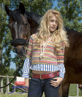 Idra Pullover / Jumper Knitting Pattern using Adriafil Knitcol Yarn   Free Downloadable Pattern - Main image