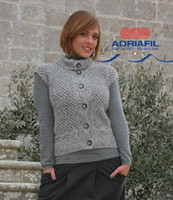 Clio Waistcoast Knitting Pattern using Adriafil Lana Naturale Inca | Free Downloadable Knitting Pattern - Main image