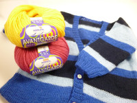 Adriafil Avantgarde 3 Ply / 4 Ply 100% Merino Superwash Wool Knitting Yarn - Baby cardi in Avantgarde, Main Image