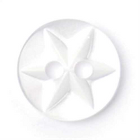 Buttons White Star - 11mm