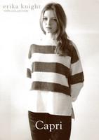 Capri, DK Knitting Pattern for Cabled Tunic | Erika Knight Studio Linen DK