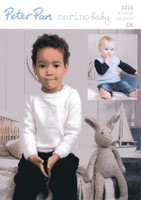 Childrens Sweater & Tank Top Pattern | Peter Pan Merino Baby DK 1216