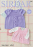 ply Pattern for Babies / Girls Dress and Pinafore - Sirdar Snuggly 4ply 4885