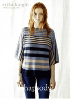 Rhapsody, Stripey T shirt Knitting Pattern | Erika Knight Studio Linen
