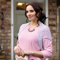 Penelope - Lace weight pattern for a knitted shrug | West Yorkshire Spinners