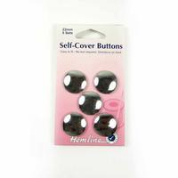 Hemline | Self Cover Buttons | Metal | Various Sizes